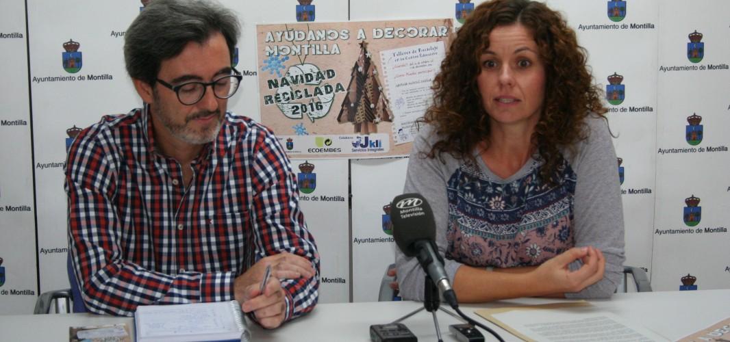 """El Ayuntamiento pone en marcha una nueva campaña de """"Navidad reciclada en Montilla"""""""