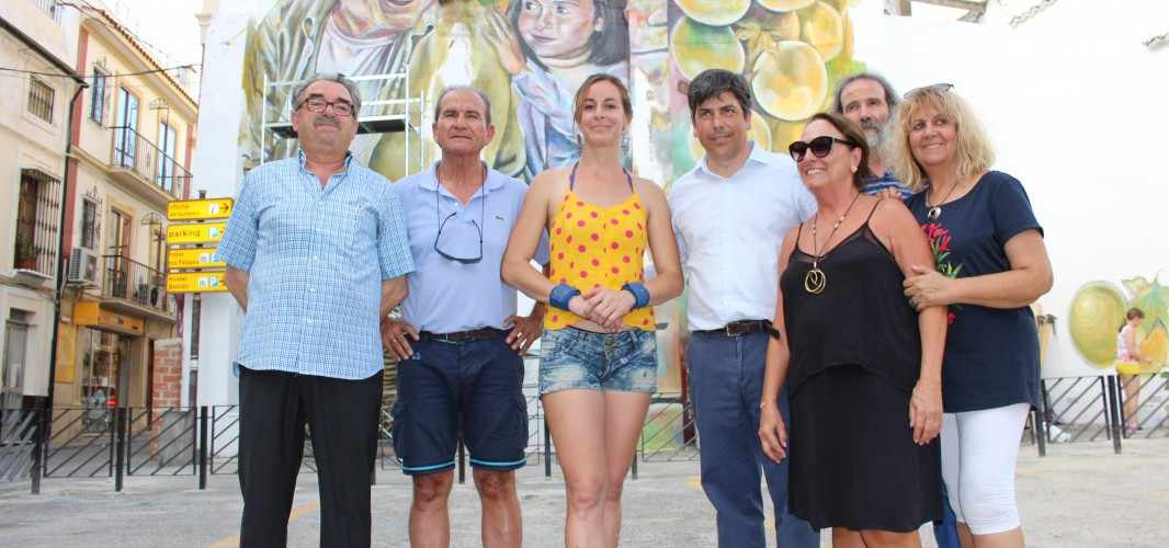 Artistas del IMA visitan Montilla y colaboran con Gisel Rosso