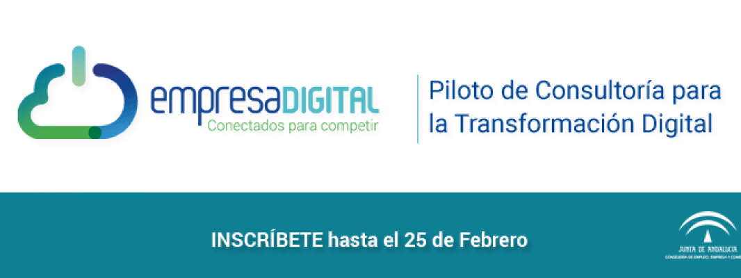 Abierta la convocatoria para la participación de empresas andaluzas en el Piloto de Consultoría para la Transformación Digital