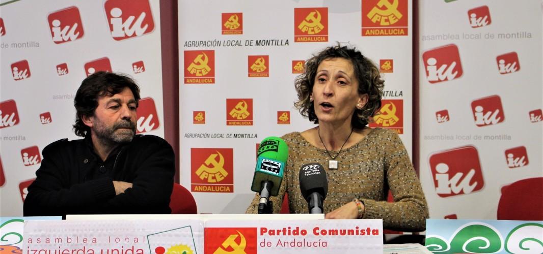 Izquierda Unida anima a todos los montillanos a movilizarse en las calles de Sevilla el próximo 28 de febrero