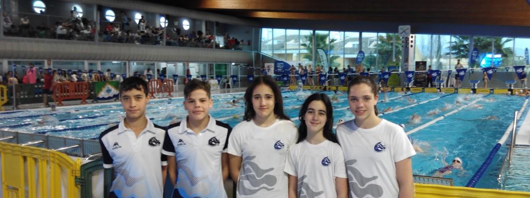 El equipo alevín del Club Natación Montilla brilla con luz propia en el campeonato de Andalucía celebrado en Torre Del Mar