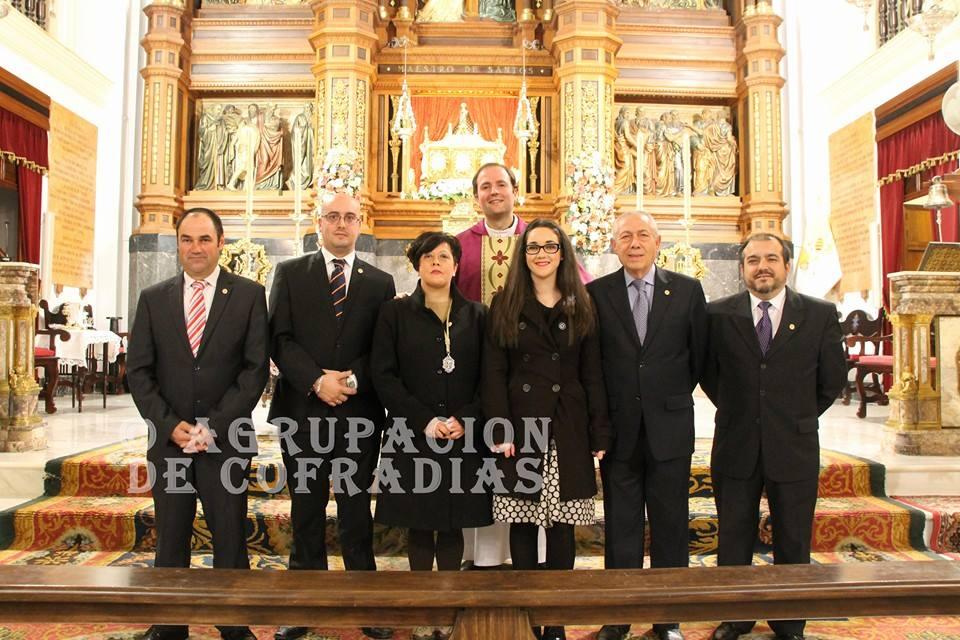 Junta directiva de la Agrupación de Cofradías