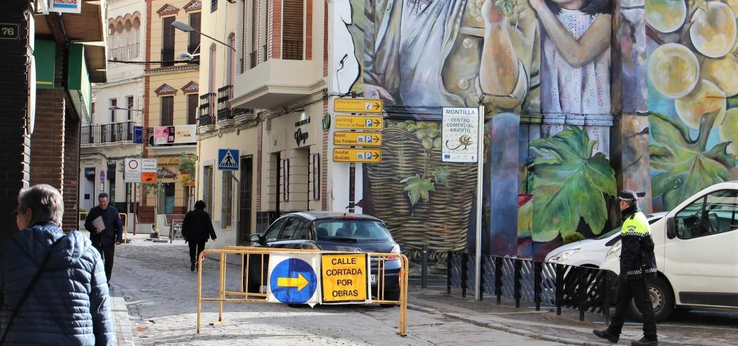 Desvío del tráfico de la calle corredera, al menos durante una semana, por unas obras en la Plaza de la Inmaculada