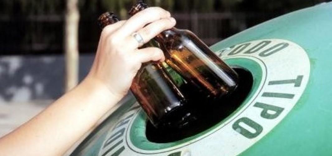 El reciclado de vidrio en la Feria de El Santo se incrementa en un 37,4% respecto al año pasado