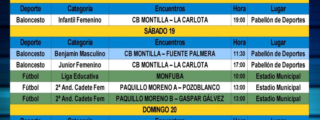 Agenda Deportiva Local del Fin de Semana