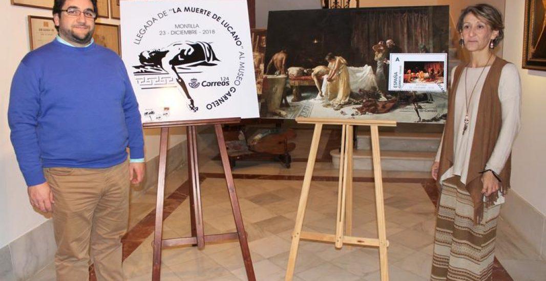 """Matasellos y exposición filatélica para conmemorar la presencia de """"La Muerte de Lucano"""" en Montilla"""