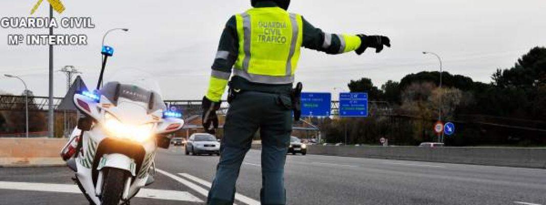 La Guardia Civil intercepta un vehículo que sobrepasaba en 112 km/h el límite de velocidad establecido