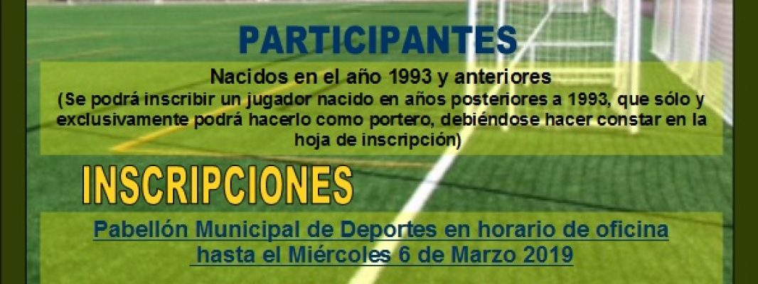 V Campeonato Fútbol 7 mayores de 25 años