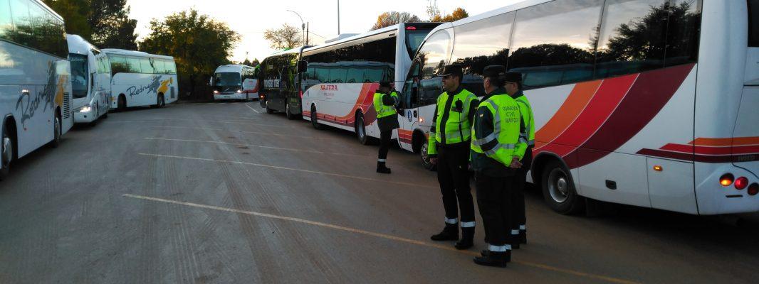 La Guardia Civil da a conocer los datos sobre el control de transporte escolar