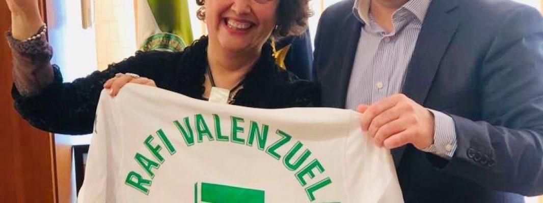 La subdelegada del gobierno recibe al presidente del Córdoba CF