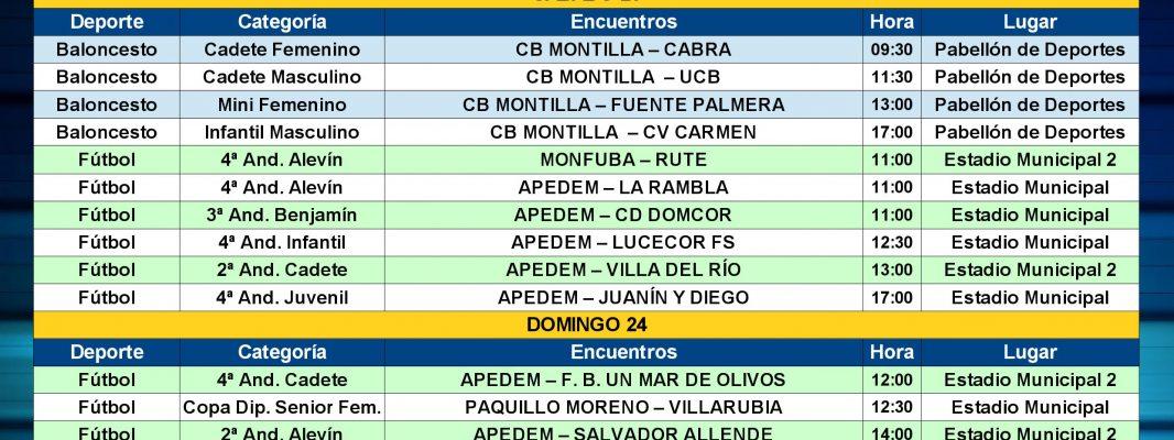 Agenda Deportiva Local del viernes 22 al jueves 28 de Marzo