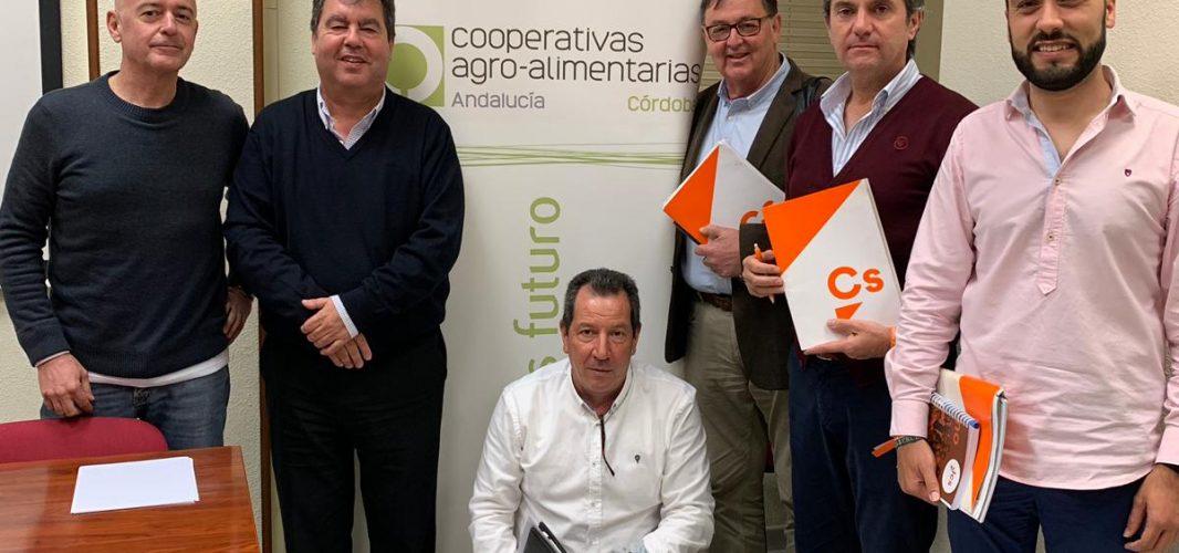 Ciudadanos se preocupa por la situación de las cooperativas agroalimentarias de Montilla