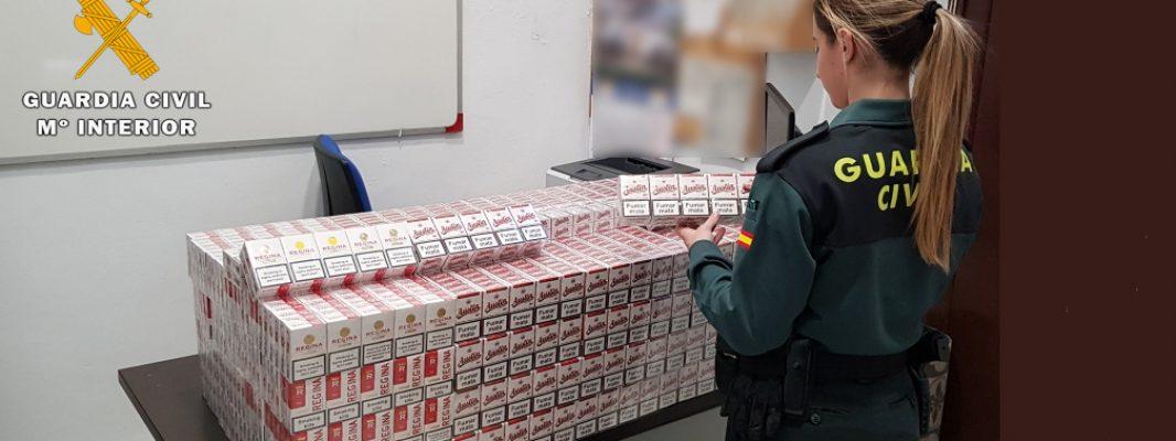 La Guardia Civil aprehende 2.000 cajetillas de tabaco de contrabando en La Carlota y denuncia a una persona