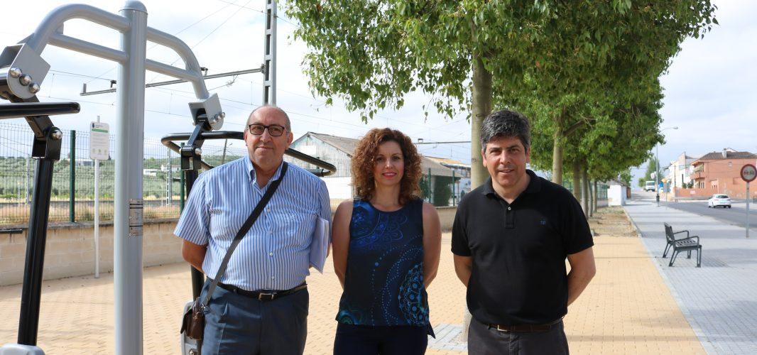 La avenida Marqués de la Vega estrena un nuevo espacio biosaludable