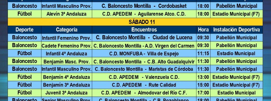Agenda Deportiva Local, del viernes 10 al jueves 16 de enero de 2020
