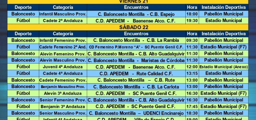 Agenda Deportiva Local del viernes 21 al jueves 27 de febrero