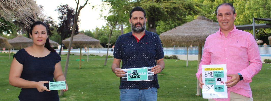 Deportes, Asuntos Sociales y Comercio crean una iniciativa común alrededor de la Piscina Municipal de Montilla