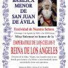 Misa solemne en honor de Nuestra Señora Reina de los Ángeles